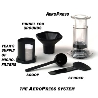 aeropress coffee maker with parts